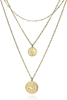 Best multi layered coin necklace Reviews