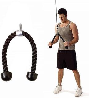 Buspoll Heavy Duty Tricep Rope Pull Down Exercise Triceps Durable Solid Nylon En، كابل كروم مرفق مع نهايات صلبة غير قابلة ...