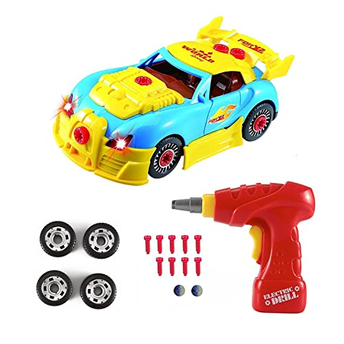 Construction Toys Take Apart Car Racing 30 Pieces With Realistic Sounds