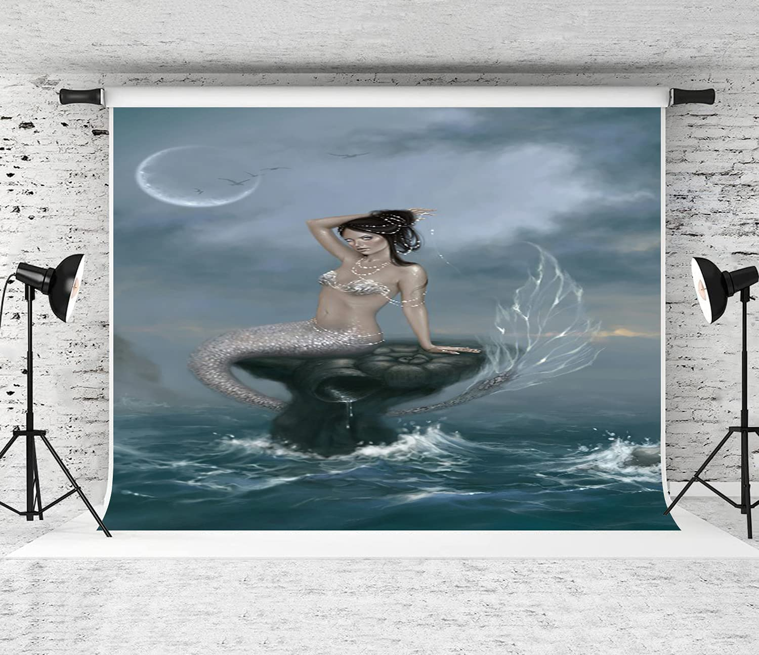 DAOPUDA Photography Background Moon Product Tide Ranking TOP17 Party Mermaid Decoratio