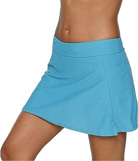 Women Solid Swim Skirt with Brief Skirted Swimsuit Bottom Tankini Shorts