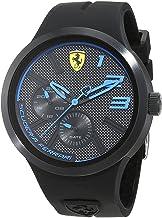 [フェラーリ] Ferrari メンズ FXX マルチファクション ブラック×ブルー 防水 ラバー 830395 腕時計 [並行輸入品]