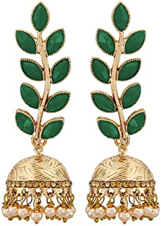 a3523c90a Zeneme Antique Rhodium Plated Dangler and Jhumka styled Earrings for girls  and women