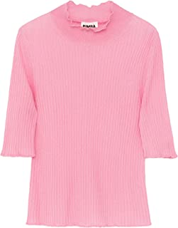 Bimba y Lola Women Pink Ribbed Jumper 192BR7443