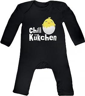süßes Ostergeschenk Ostern Easter Baby Strampler Langarm Schlafanzug Jungen Mädchen Chill-Kükchen