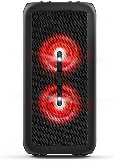 Party Speaker Philips bluetooth com 2 falantes, luzes de led, bluetooth, usb, auxiliar, entradas para microfone e guitarra...