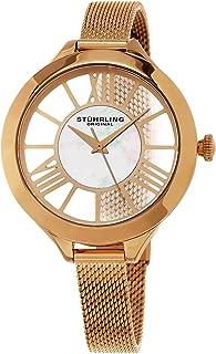 Stuhrling Original Women's 5953 Winchester Quartz 16K Rose-Tone Watch With Mesh Bracelet