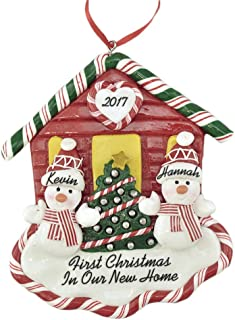 Calliope Designs First Christmas New House 2019 for A Couple Personalized Ornament Handcrafted - 4.5