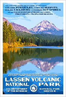 Lassen Volcanic National Park Poster - Original Artwork - 13