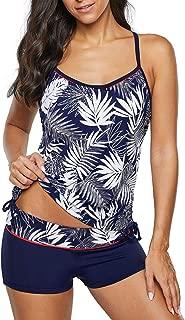 Hilor Women's Scalloped Triangle Bikini Set Petal Two Piece Swimsuit