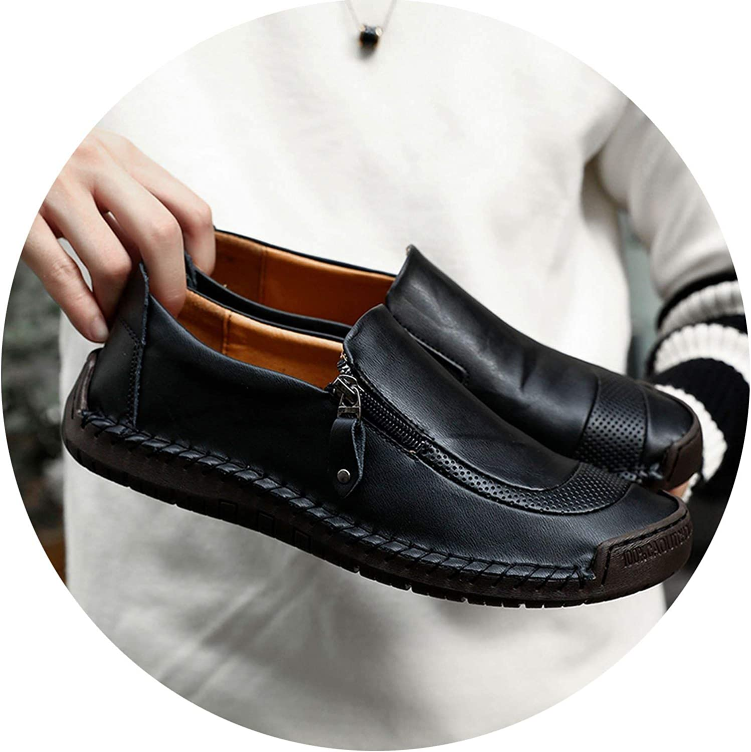 Every kind of beauty 2019 Big Size 38-48 Brand Genuine Leather Men shoes Fashion Casual shoes Breathable Men Flats Loafers Men's Driving shoes