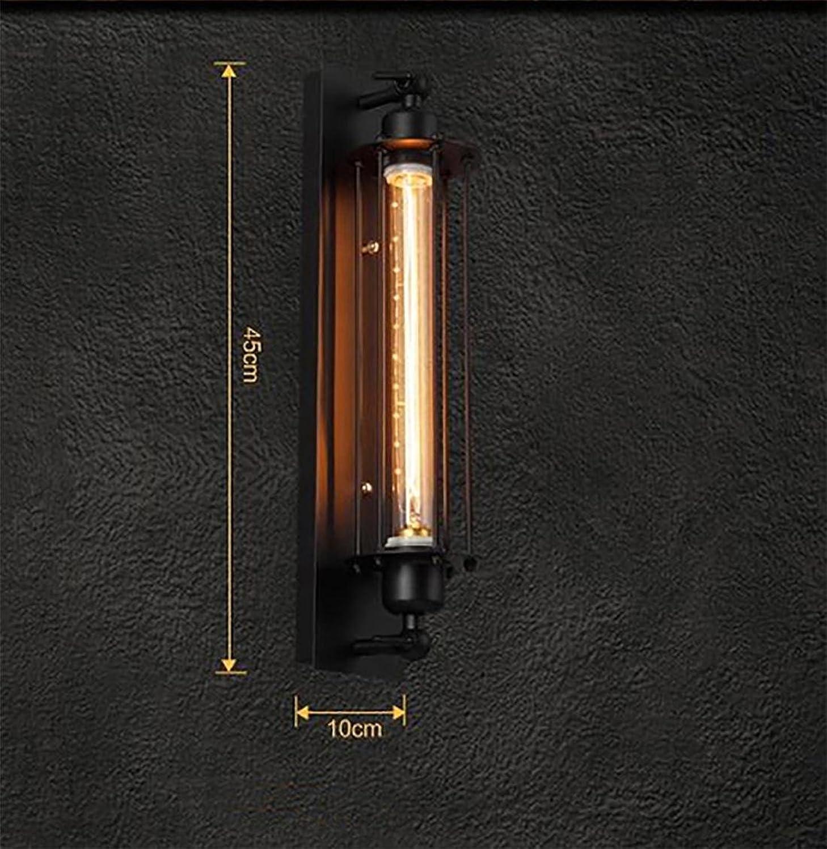 Mejor precio BENJUNPaís americano Industrial Balcón Pasillo Pasillo Pasillo Hierro retro flauta LED lámpara de parojo Barbero Salón  45  10cm  venta al por mayor barato