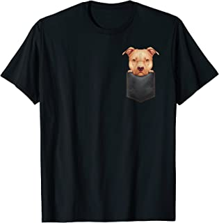 Fawn Pitbull in Chest Pocket T-Shirt