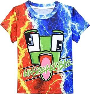 Weluo Cloth Boys Un-Speak-able T-Shirt Summer Cartoon Graphic Short-Sleeve Tops