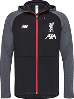 Liverpool FC Black Mens Soccer Manager's Hoodie 19/20 LFC Official