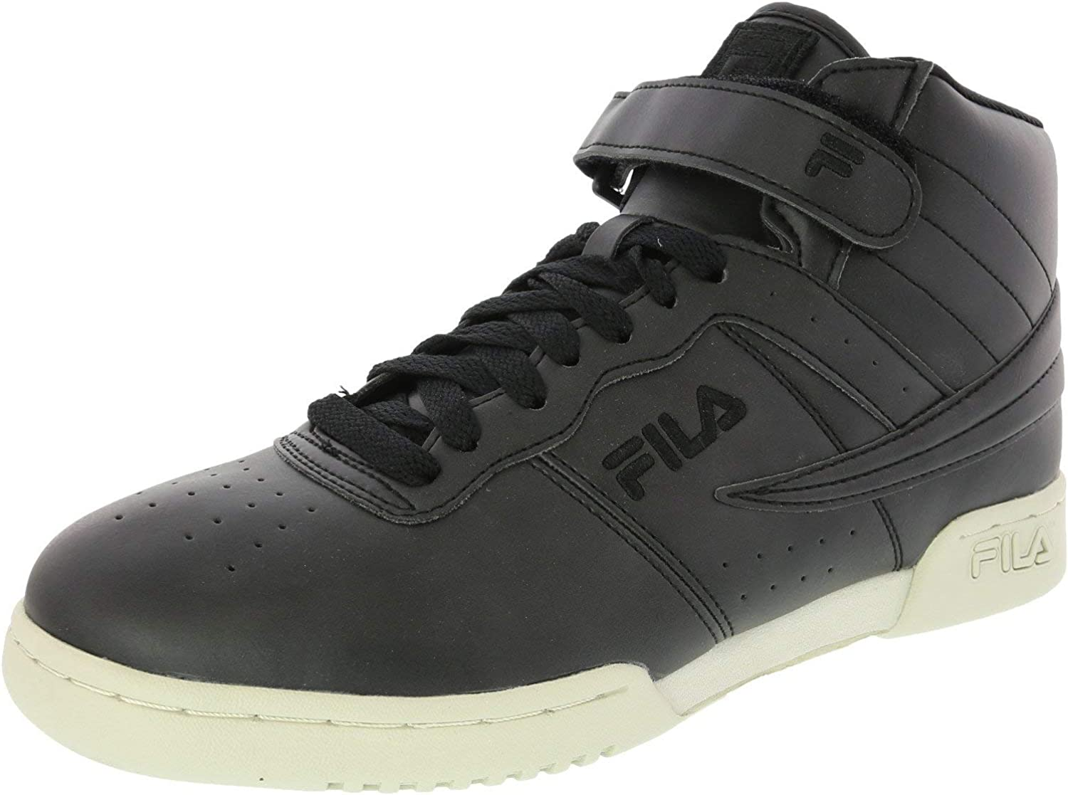 Fila Mens F-13 Distressed Leather Hight Top Lace Up Running Sneaker