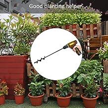Prenine Taladro de Tierra de Metal, Broca de barrena de jardín, Excavadora de Taladro Manual de labranza de jardín, sembradora rápida a Prueba de Herrumbre