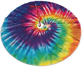 Christmas Tree Skirt 48 Inch Colorful Tie Dye Lollipop Design Xmas Holiday Party Supplies Large Tree Mat Decor for Indoor ...