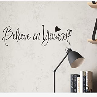 Believe in Yourself Wall Decals Stickers Positive Wall Sayings Motivational Wall Quotes Peel and Stick Words Letters Decor...