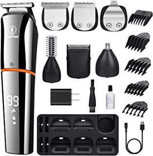 Ceenwes Beard Trimmer for Men 6 In 1 Hair Clippers Cordless Waterproof Multi-functional Grooming...