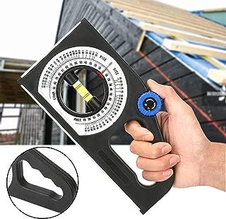 Qinlorgo Instrumento de medici/ón de Pendiente magn/ética Medidor de Pendiente multifunci/ón Regla de medici/ón /Ángulo Horizontal Regla de Pendiente Universal Transportador