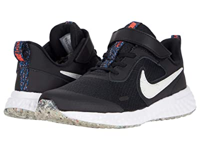 Nike Kids Revolution 5 MTF (Little Kid) (Black/White/Bright Crimson) Kid