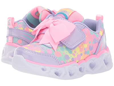 SKECHERS KIDS Heart Lights 20265N (Toddler) (Lavendar/Pink) Girl