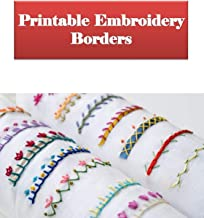 Printable Embroidery borders