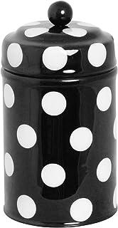 北欧 スウェーデン ストレームシャガ キャニスター缶 (ドット小) ブラック 661407
