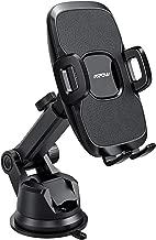 Mpow 104 Dashboard Car Phone Mount, Windshield Car Phone Holder, 2 Suction Levels, Washable Gel Pad Compatible iPhone 11 Pro/Max/X/XS/XR/8Plus/8/7Plus/7/6Plus, Google, One Plus, Moto, Black