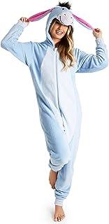 Disney Onesies for Women, Ladies Fleece Onesie Pyjamas, Eeyore Gifts for Women