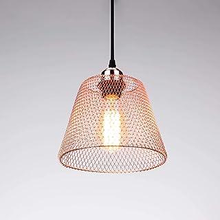 Lightess Suspension Luminaire Industrielle en Métal Luminaire Lampe Rétro Déjeté Abat-jour Ø 20cm E27 Lustre Lampe de Plaf...