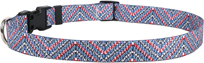 "Yellow Dog Design Multi Tweed Dog Collar, Medium-1"" wide fits neck sizes 14 to 20"" wide"