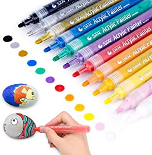 Acrylic Paint Marker Pens, Morfone Set of 12 Colors...