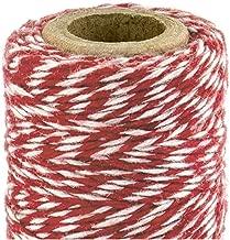 100 m rot und gold 2 mm Craft-Baumwollschnur Weihnachtsschnur rote Weihnachtsschnur zum Geschenkverpacken