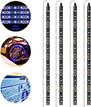 Geeon LED Strip Lights Waterproof 12V Blue (465-475nm) for Auto Car Truck Motorcycle Boat Interior Lighting UL Listed 30CM/12'' 3528 SMD Pack of 4