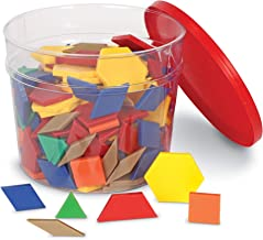 Learning Resources Plastic Pattern Blocks, Math Games for Kindergarten, Homeschool, Shape Recognition, Early Math Skills, ...