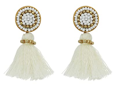 J.Crew Mini Tassel Earrings (White) Earring