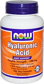 NOW Foods - Resistenza acida mg di Hyaluronic 100 doppia. - 120 Capsule vegetariane