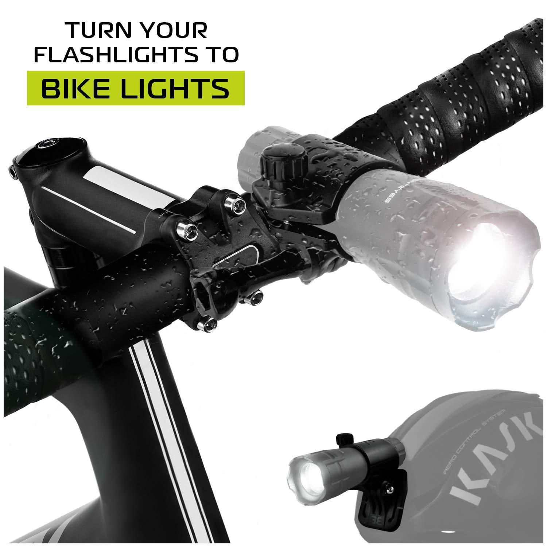 Bicycle Light Torch  Flashlight Bracket bike accessories for*gopro mount pt