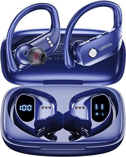 VEATOOL Wireless Earbuds Bluetooth Headphones 48hrs Play Back Sport Earphones with LED Display Ear Buds with Earhooks...