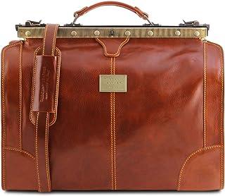 Tuscany Leather Madrid Borsa da viaggio in pelle - Misura piccola Miele