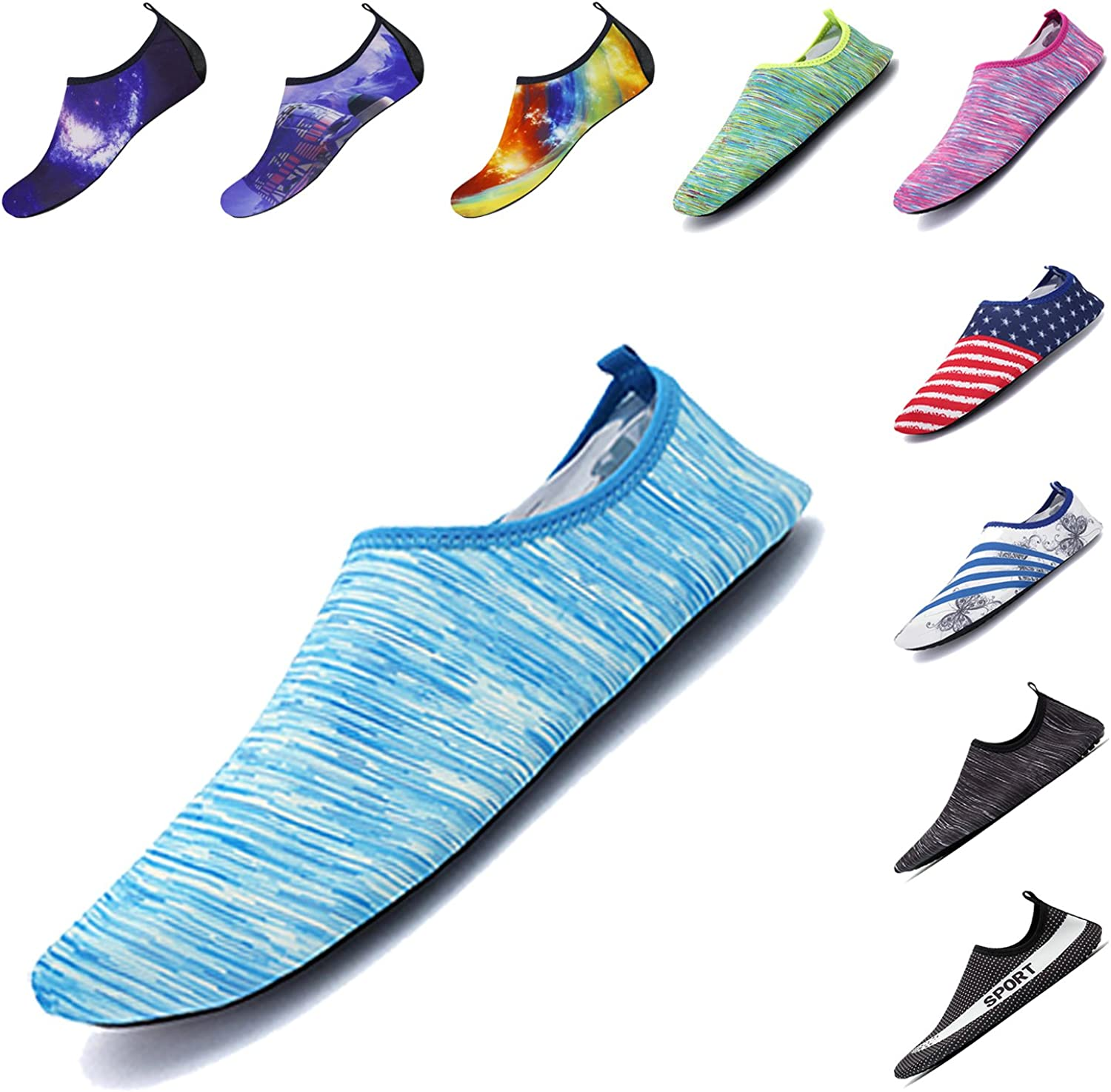ELETOP Water shoes Quick Dry Outdoor Athletic Sport shoes Water Socks for Kayaking Boating Surfing