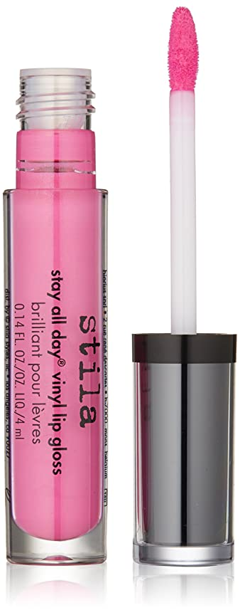 組み合わせる縫い目フィットネススティラ Stay All Day Vinyl Lip Gloss - # Hot Pink Vinyl 4ml/0.14oz並行輸入品