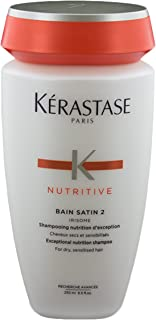 Kerastase Nutritive Bain Satin 2 Complete Nutrition Shampoo For Dry and Sensitised Hair, 8.5 Oz.