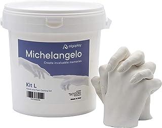 Michelangelo KIT L de moulage. Permet de créer une sculpture de 2 mains d'adultes ou 3 d'enfants en famille ou entre amis....