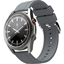 Zebronics ZEB-FIT4220CH Smart Fitness Watch with Call function via built-in Speaker and Mic, SpO2, BP & Heart Rate Monitor, IP67 Water Resistant, 7 Sports Mode (Silver Rim + Gray Strap)