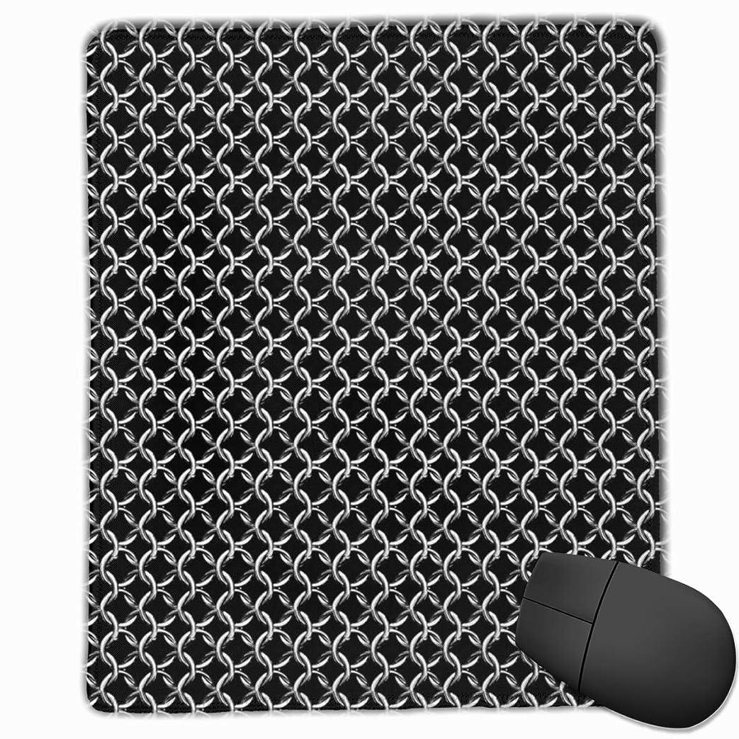 センチメートル市の中心部インフレーションブラックマウスパッド非スリップラバーバッキングゲームマウスパッドかわいい9.8 x 11.8インチのチェーンメイル防具