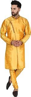Seda Aniversario Kurta Pijama (Camisa Larga y Pantalón) para Hombre