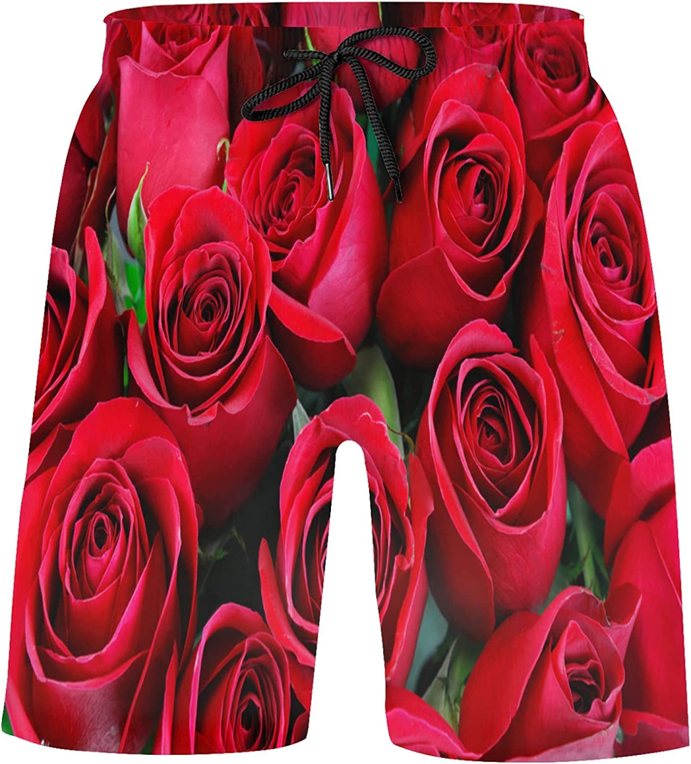 ZXZNC Weekly update Fresh Red Roses Bathing Suits Excellence Shorts Athletic Basketball S